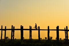 U bein bridge, burma Stock Images