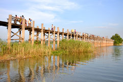 U Bein Bridge Royalty Free Stock Photos