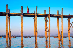 U-Bein Bridge December 1 Stock Photo