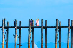 U-Bein Bridge December 2 Stock Image