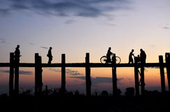 U Bein Bridge Royalty Free Stock Images