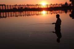 U Bein Bridge, Mandalay Stock Photography