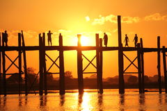 U Bein bridge | Mandalay, Myanmar Stock Image