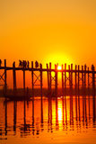 U Bein Bridge, Mandalay, Myanmar Royalty Free Stock Photography