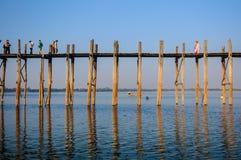 U Bein bridge, Mandalay, Myanmar Royalty Free Stock Images
