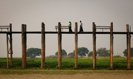 U Bein Bridge in Mandalay, Myanmar Stock Photography