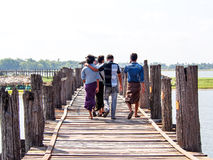 U-Bein bridge, Mandalay, Myanmar 1 Stock Photos