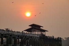 U Bein Bridge in Mandalay, Myanmar Royalty Free Stock Image