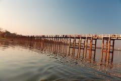 U Bein Bridge, Mandalay, Myanmar Royalty Free Stock Photos