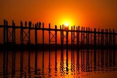 U Bein Bridge, Mandalay, Myanmar Stock Photography