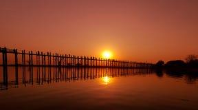 U Bein Bridge, Mandalay, Myanmar Royalty Free Stock Image
