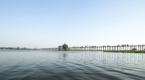 U Bein Bridge, Mandalay Myanmar. Stock Photo