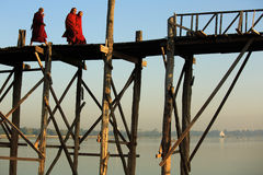 U Bein Bridge Royalty Free Stock Image