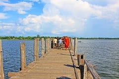 U Bein Bridge, Myanmar Royalty Free Stock Photography