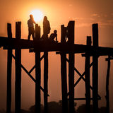 U Bein Bridge, Myanmar Royalty Free Stock Image