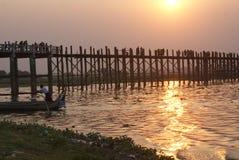 U Bein Bridge, Myanmar Stock Images