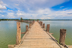 U Bein bridge in Myanmar Royalty Free Stock Images