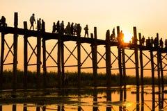 U Bein Bridge Stock Photography