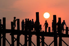 U Bein Bridge Stock Images
