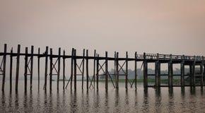 U Bein Bridge in Mandalay, Myanmar Royalty Free Stock Photography