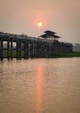 U Bein Bridge in Mandalay, Myanmar Royalty Free Stock Photo