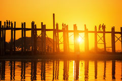 U bein bridge sunset Stock Photography