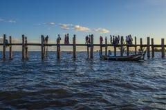 U Bein most Myanmar Zdjęcie Stock