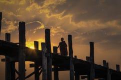 U Bein most w Amarapura zdjęcia royalty free