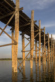 Мост u Bein - Мандалай - Myanmar Стоковое Изображение RF