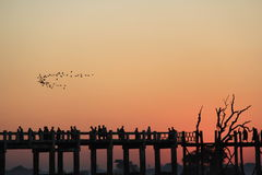 U Bein's bridge Royalty Free Stock Images