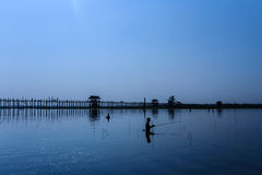 U Bein's Bridge Royalty Free Stock Photography