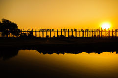U Bein's Bridge Royalty Free Stock Image
