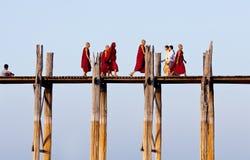 U Bein teak bridge in Amarapura, Myanmar Stock Photo