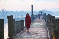 U-Bein teak bridge, Myanmar Stock Images