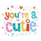 U bent een cutie stock illustratie