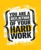 U bent een Weerspiegeling van Uw Hard Werk Training en van de Geschiktheidsgymnastiek het Concept van het Ontwerpelement Creatief Royalty-vrije Stock Afbeelding