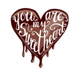 U bent mijn sweeetheart het van letters voorzien Stock Afbeelding