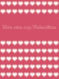 U bent mijn valentijnskaartkaart 01 Royalty-vrije Stock Fotografie
