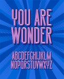 U bent wonder Super Helden 3D uitstekende brieven royalty-vrije stock afbeelding