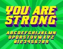U bent wonder Super Helden 3D uitstekende brieven royalty-vrije stock afbeeldingen