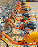 U Bike, a Bicycle share program in Taipei. TAIPEI, TAIWAN CIRCA JULY 2016. U Bike, a Bicycle share program in Taipei, gives residents and tourists one more Royalty Free Stock Photos