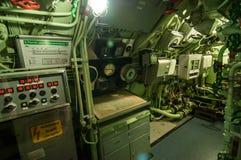U-Boat - command room Royalty Free Stock Photo