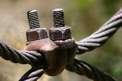U bolt. And Old cable Royalty Free Stock Image