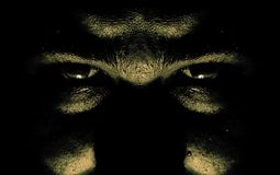 U can run.... Face in the dark watching us Stock Photography