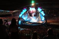 U2 in Concert Stock Photo