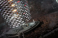 U2 de concert Photos stock