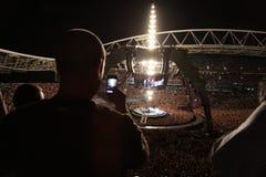 U2 de concert Photo stock
