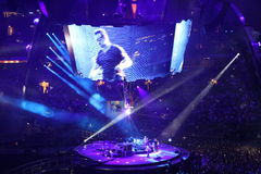 U2 de concert Images stock