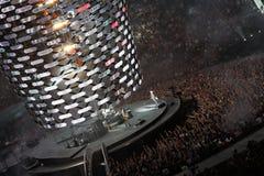 U2 di concerto Fotografie Stock