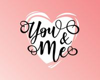 ` U en me inspirational van letters voorziende de motivatieaffiche van ` Royalty-vrije Stock Fotografie